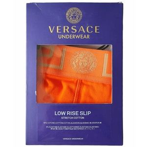 VERSACE Low-Rise Orange/Gold Briefs NWT